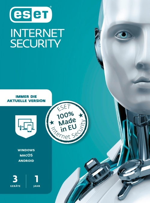 ESET Internet Security 2020 Edition 3 User (Code in a Box)