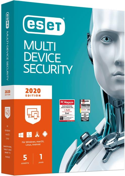 ESET Multi-Device Security 2020 Edition 5 User (Code in a Box)