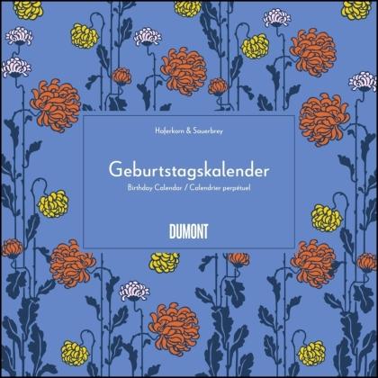 Immerwährender Geburtstagskalender – Lovely Flowers – Haferkorn & Sauerbrey – Quadrat-Format 24 x 24 cm