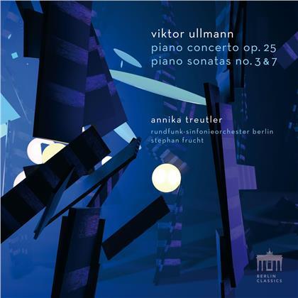 Viktor Ullmann (1898-1944), Stephan Frucht, Annika Treutler & Rundfunk-Sinfonie Orchester Berlin - Piano Concerto op. 25, Piano Sonatas No. 3 & 7 (CD + Blu-ray)