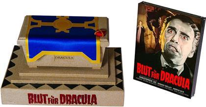 Blut für Dracula (1966) (Hammer Edition, Cover D, Sarg Box, Mediabook, Blu-ray + DVD)