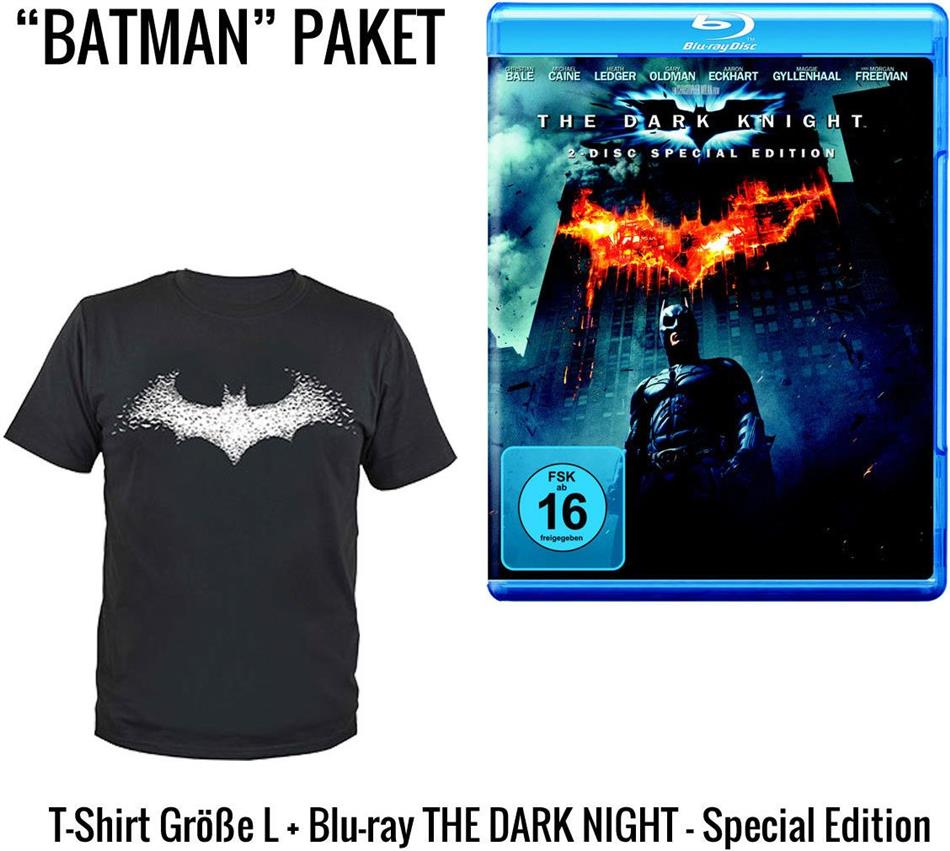 Batman - The Dark Knight - T-Shirt Geschenkset (2008) (+ T-Shirt L, Limited Edition, 2 Blu-rays)