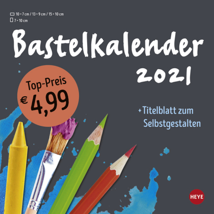 Bastelkalender anthrazit klein Kalender 2021