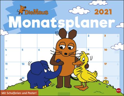 Die Maus Monatsplaner Kalender 2021