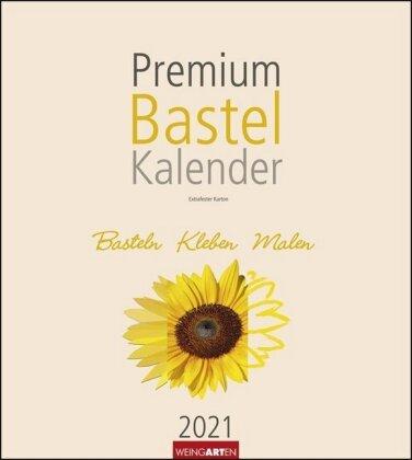 Bastelkalender champagner 21,5 x 24 cm Kalender 2021