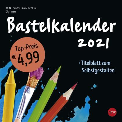 Bastelkalender schwarz klein Kalender 2021