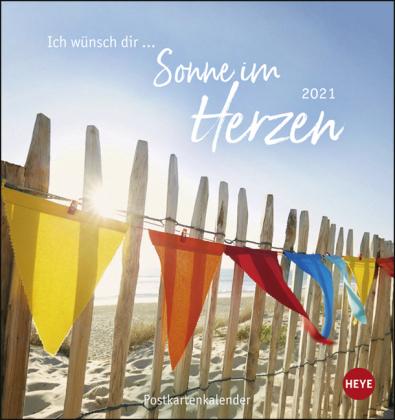 Ich wünsch dir … Sonne im Herzen Postkartenkalender Kalender 2021