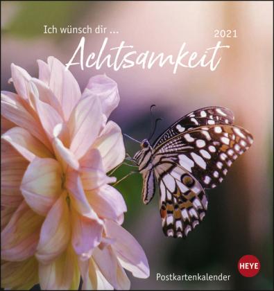 Ich wünsch dir … Achtsamkeit Postkartenkalender Kalender 2021