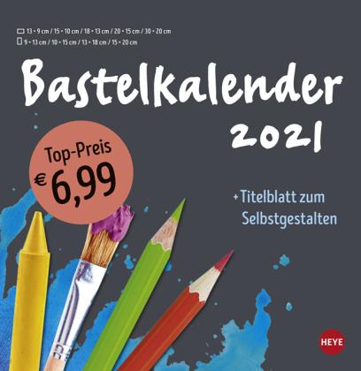 Bastelkalender anthrazit groß Kalender 2021