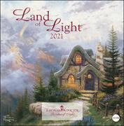 Thomas Kinkade - Land of Light Broschurkalender Kalender 2021