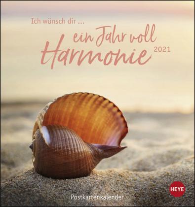 Ich wünsch' dir … ein Jahr voll Harmonie Postkartenkalender Kalender 2021