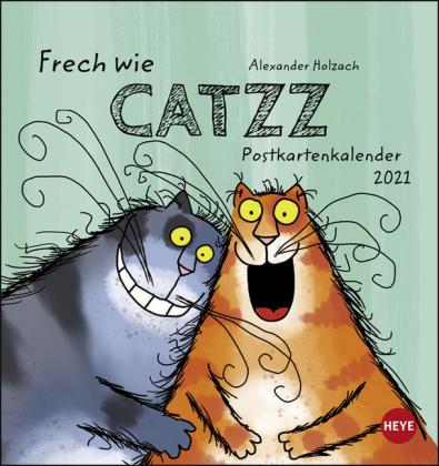 Catzz Postkartenkalender Kalender 2021