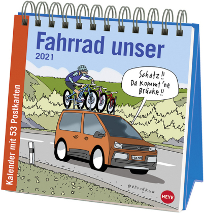 Butschkow - Fahrrad unser Premium-Postkartenkalender Kalender 2021