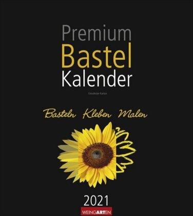 Bastelkalender schwarz 21,5 x 24 cm Kalender 2021