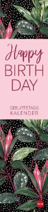 Tropical Leaves Geburtstagskalender long Kalender 2021