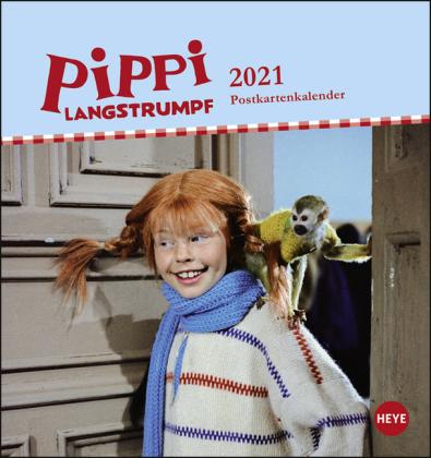 Pippi Langstrumpf Postkartenkalender Kalender 2021