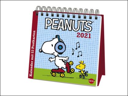Peanuts Premium-Postkartenkalender Kalender 2021