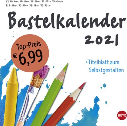 Bastelkalender weiß groß Kalender 2021