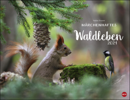 Vadim Trunov - Waldtiere Posterkalender Kalender 2021
