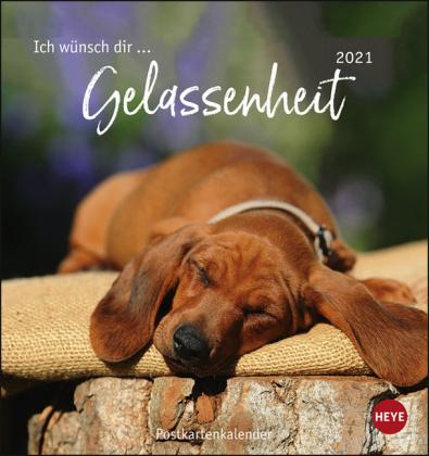 Ich wünsch dir … Gelassenheit Postkartenkalender Kalender 2021