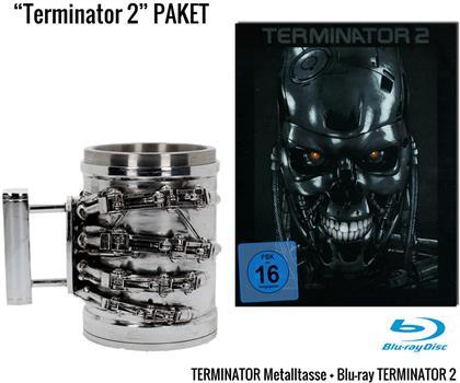 Terminator 2 - T-800 Metallhand Geschenkset (1991) (Steel Edition, + Tasse, Limited Edition)