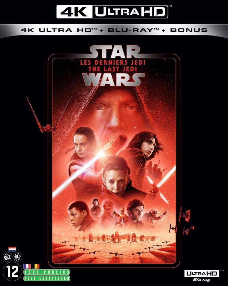 Star Wars - Episode 8 - Les derniers Jedi - The Last Jedi (2017) (Line Look, Neuauflage, 4K Ultra HD + 2 Blu-rays)