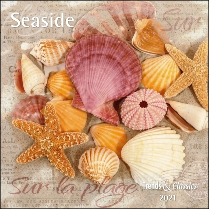 Seaside 2021 - Broschürenkalender - Wandkalender - mit herausnehmbarem Poster - Format 30 x 30 cm