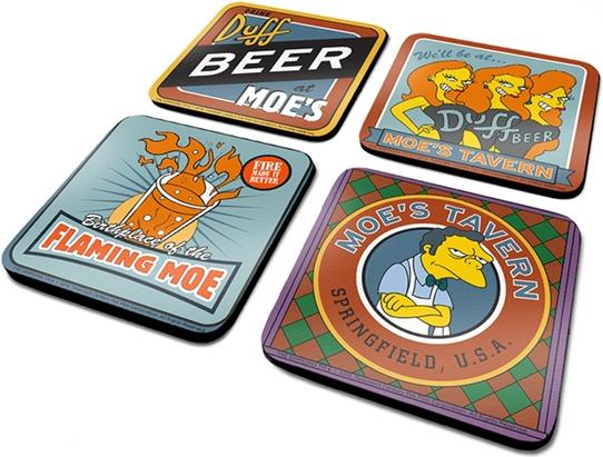 Simpsons - The Simpsons (Moes Taven) Coaster Set