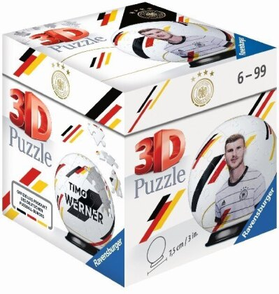 DFB-Nationalspieler Timo Werner. 3D Puzzle 54 Teile