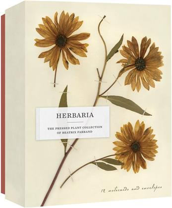 Herbaria: The Pressed Plant Collection of Beatrix Farrand - 12 Notecards and Envelopes