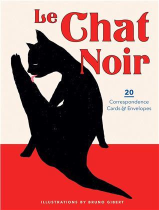 Le Chat Noir - 20 Correspondence Cards & Envelopes