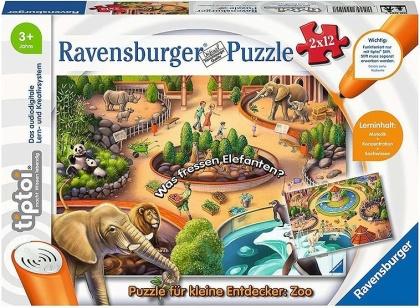 Puzzle für kleine Entdecker: Zoo - 2 x 12 Teile tiptoi® Puzzles