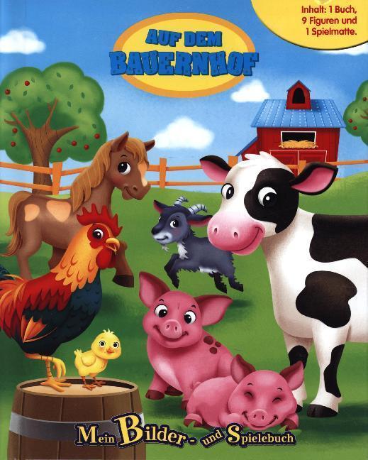 Auf dem Bauernhof - Spielbuch + 8-10 Spielfiguren + Spielmatte