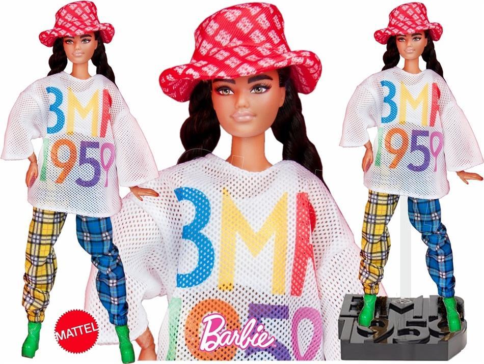 Barbie BMR1959 Meshshirt - Puppe, braune Haare