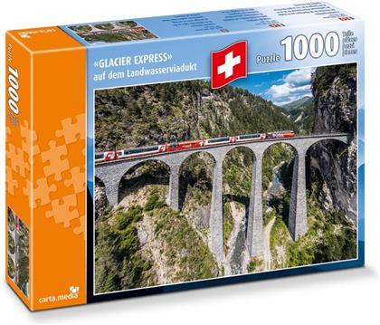 Glacier Express auf Landwasserviadukt - 1000 Teile Puzzle