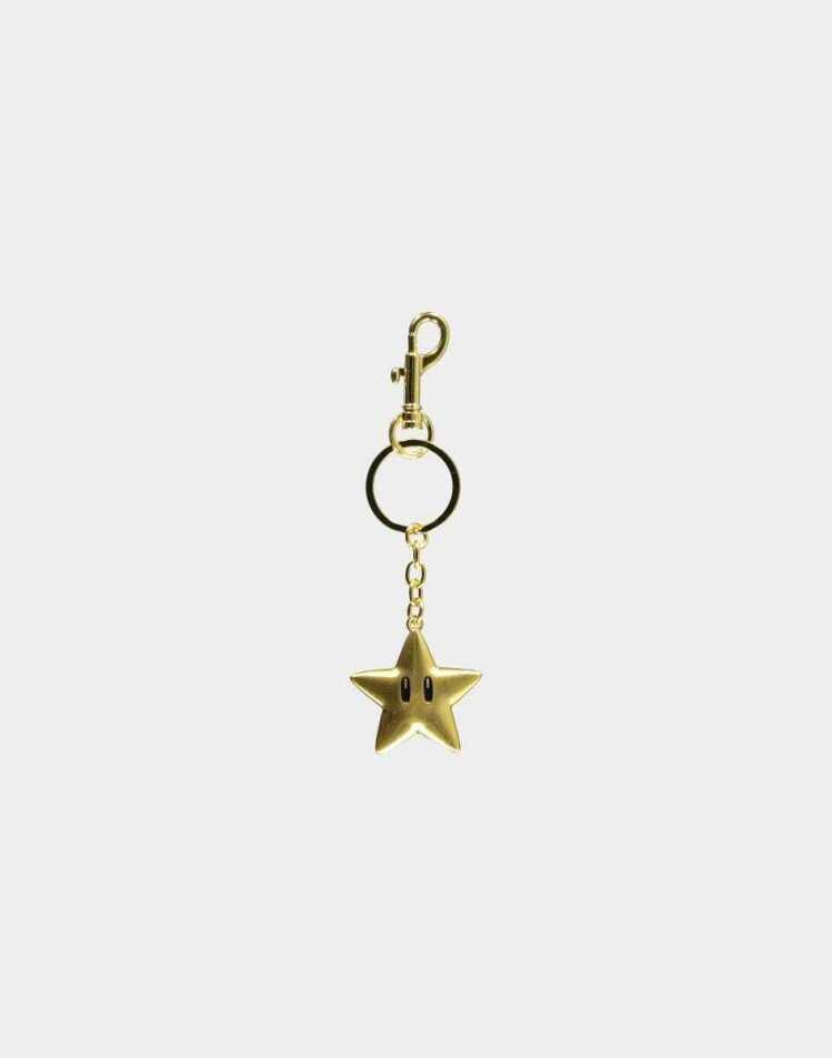 Nintendo - Super Mario Star Metal Keychain
