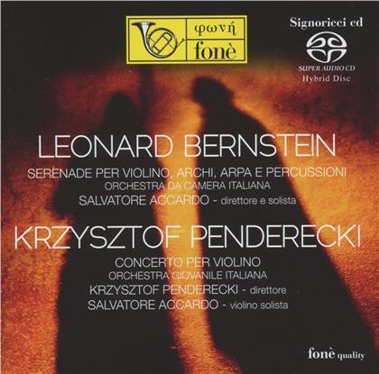 Leonard Bernstein (1918-1990), Krzysztof Penderecki (*1933), Krzysztof Penderecki (*1933), Salvatore Accardo, Orchestra da Camera Italiana, … - Serenade Per Violino, Archi, Arpa E Percussioni - Concerto Per Violino (Hybrid SACD)