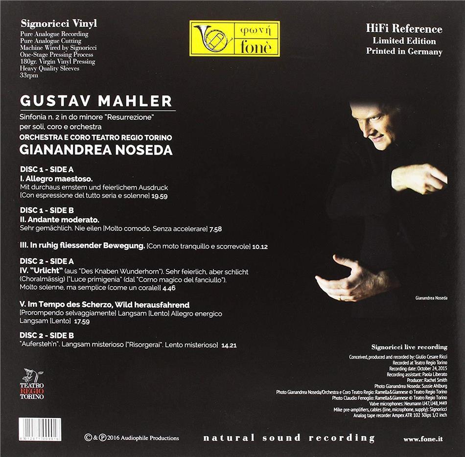 Tutto Luce Torino To sinfonia n.2 (lp) by gustav mahler (1860-1911), gianandrea noseda &  orchestra e coro teatro regio torino