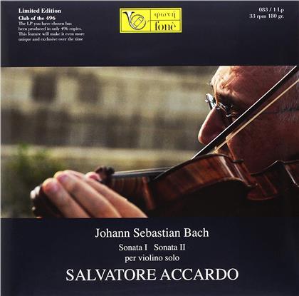 Johann Sebastian Bach (1685-1750) & Salvatore Accardo - Sonata I / II per violino solo (LP)