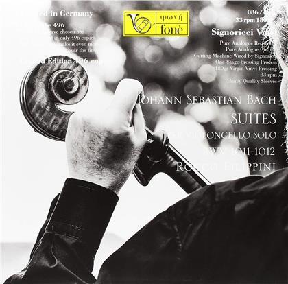 Johann Sebastian Bach (1685-1750) & Rocco Filippini - Suite per violoncello solo BWV 1011-1012 (LP)