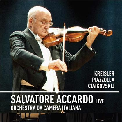 Fritz Kreisler (1875-1962), Astor Piazzolla (1921-1992), Peter Iljitsch Tschaikowsky (1840-1893), Salvatore Accardo & Orchestra da Camera Italiana - Live (2 CDs)