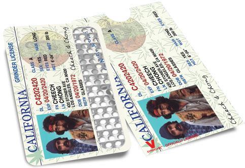 Grinder Card - Cheech & Chong Driver License
