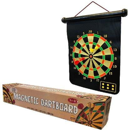Retr-Oh - Magnetic Dartboard, 1 Dartboard, 6 Dart-Pfeile