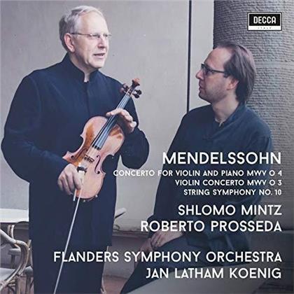 Felix Mendelssohn-Bartholdy (1809-1847), Jan Latham-Koenig, Shlomo Mintz, Roberto Prosseda & Flanders Symphony Orchestra - Violin Concertos