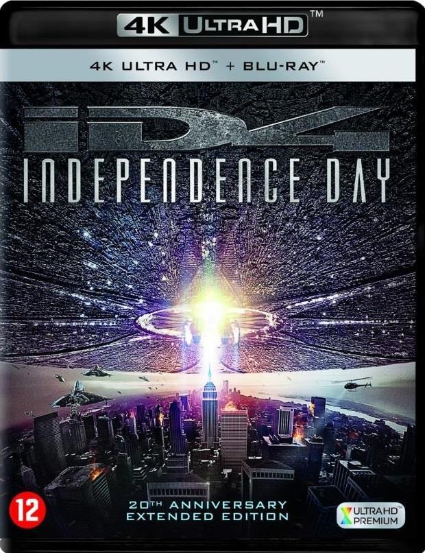Independence Day (1996) (Edizione 20° Anniversario, Extended Edition, Versione Cinema, 4K Ultra HD + Blu-ray)