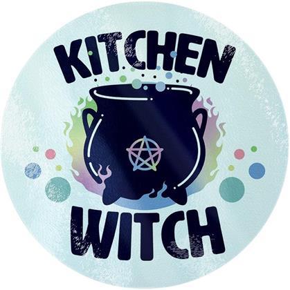 Kitchen Witch - Circular Glass Chopping Board