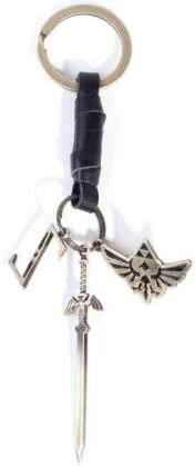 Zelda - Leather Keychain With Metal Charms