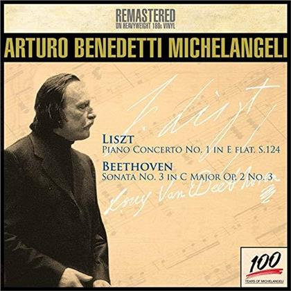 Franz Liszt (1811-1886), Ludwig van Beethoven (1770-1827) & Arturo Benedetti Michelangeli - Piano Concerto No. 1, Piano Concerto No. 3 (Remastered, LP)