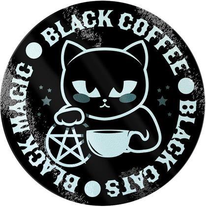 Black Cats, Black Magic, Black Coffee - Glass Chopping Board