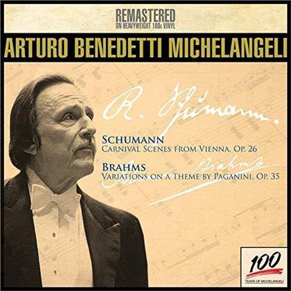 Robert Schumann (1810-1856), Johannes Brahms (1833-1897) & Arturo Benedetti Michelangeli - Carneval Scenes From Vienna / Variations on a Theme by Paganini (Remastered, LP)